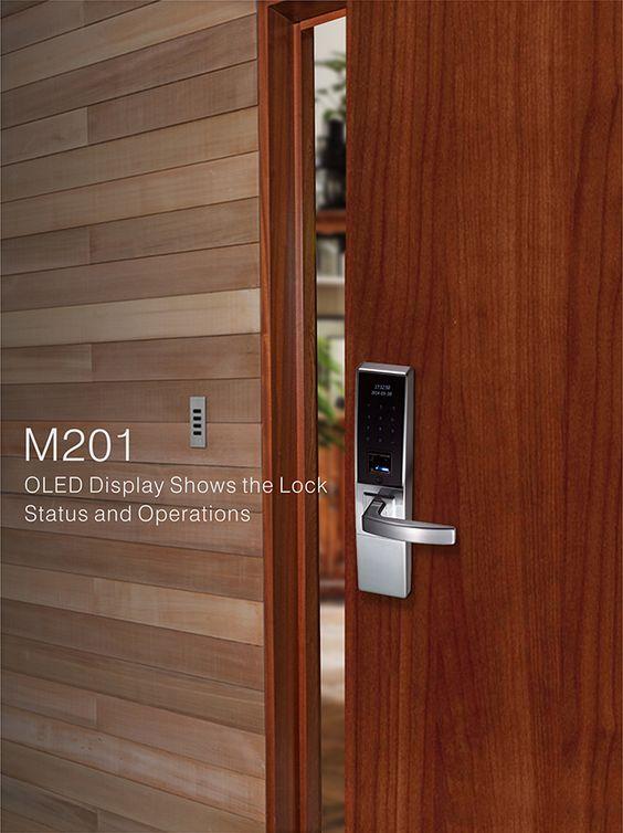 M201 Fashion Expensive Led Display Touch Key Pad Biometric Fingerprint Door Lock Smart Door Locks Door Locks Fingerprint Door Lock