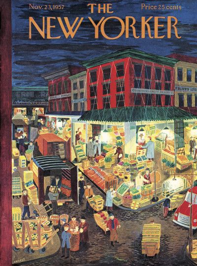 Ilonka Karasz : Cover art for The New Yorker 1710 - 23 November 1957