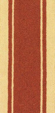 "Beige on Terra Cotta ""Linx"" carpet border"