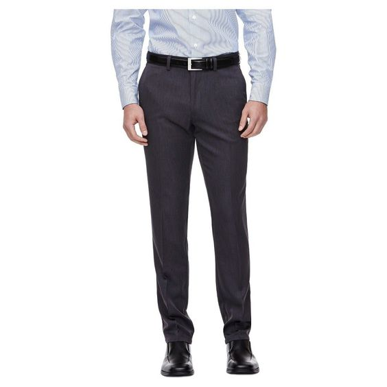 Haggar H26 - Men's Performance Slim Fit Pants Medium Grey 29 x 34 ...