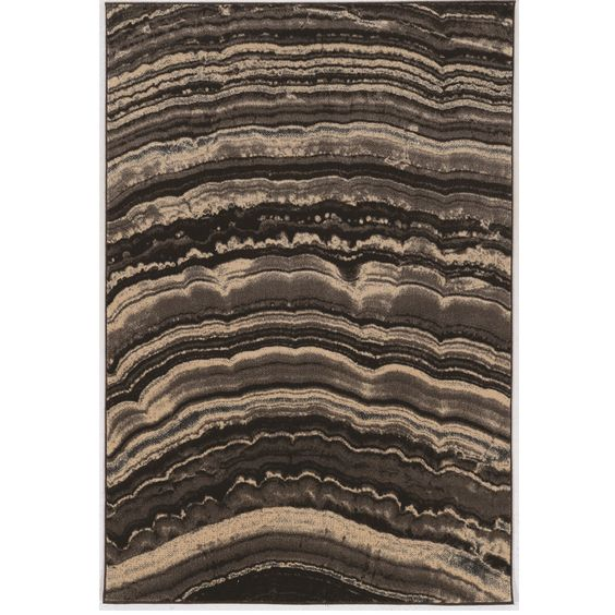 Linon PowerLoomed Masters MR20 Xylem Brown Polypropylene Rug (8' X 10'3) (Size)
