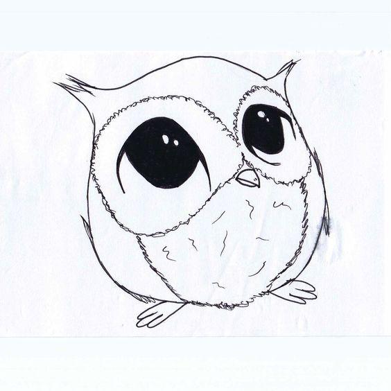 Ochen Krasivye Kartinki Dlya Srisovki Podborka Risunkov 3 Cute Owl Drawing Owls Drawing Owl Drawing Simple