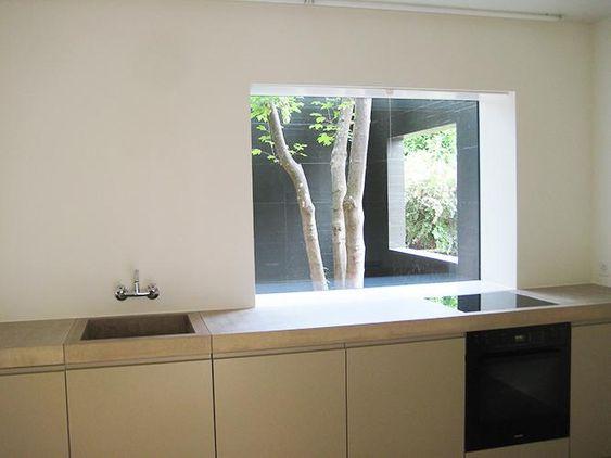 sonderanfertigung beton, küche, arbeitsplatte, btob-architekten