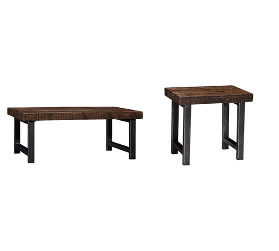 Livingroom coffee table and 2 side tables griffin wrought for Iron and wood side table