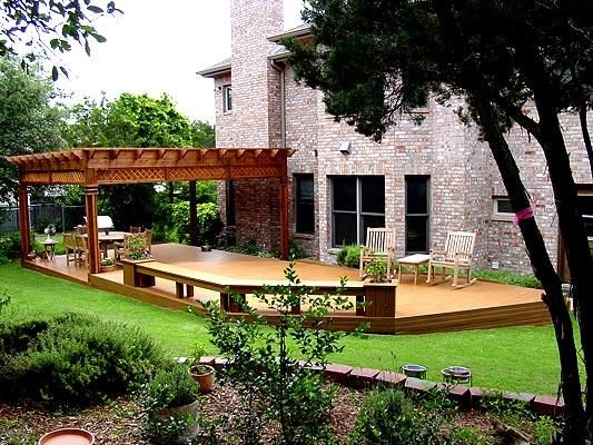 large deck with pergola | Large Deck with Pergola in Austin TX - Decks Photo Gallery - Archadeck ...