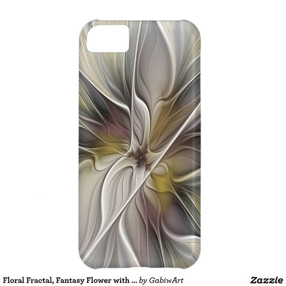 Floral Fractal, Fantasy Flower with Earth Colors Case For iPhone 5C
