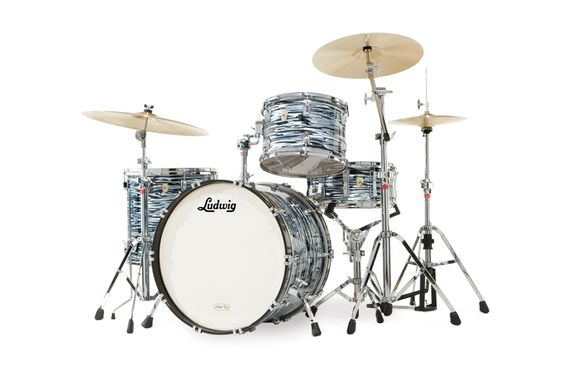 """LUDWIG Usa classic maple ringo starr 20 - black oyster pearl - l8004lxoq - Batteries acoustiques - Batteries Fusion 20""""   Woodbrass.com"""