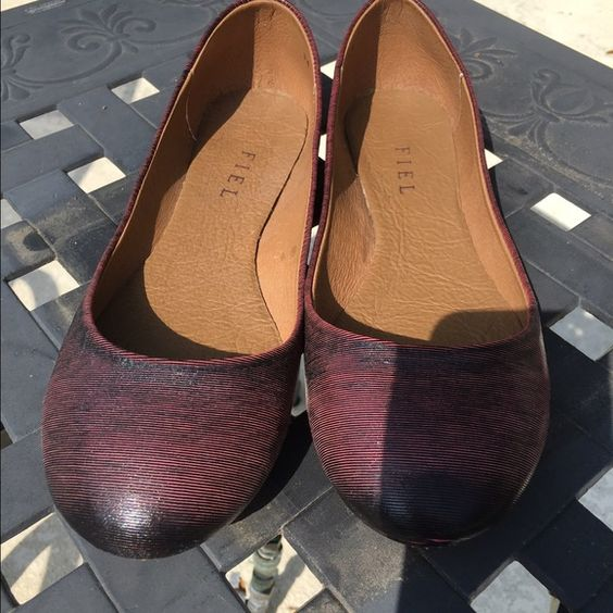 Fiel flats, so comfortable Fiel dark red flats with lower cut at the toes, so pretty on!  Urban outfitters carries this brand Fiel Shoes Flats & Loafers