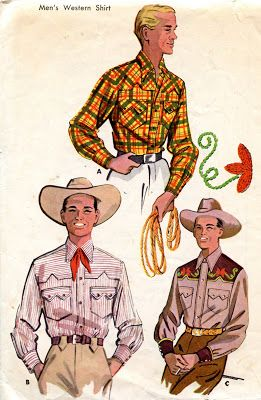 Unsung Sewing Patterns: McCall's 1925 - Men's Western Shirt