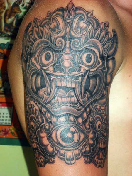 balinese barong tattoo tattooed by durga tattoo tattoos pinterest balinese and tattoos. Black Bedroom Furniture Sets. Home Design Ideas
