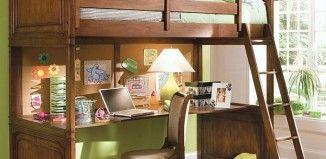 Idées de lits mezzanine avec bureau intégré