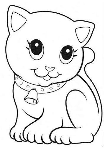 Los Mas Tiernos Dibujos De Gato Para Colorear Gatito Para