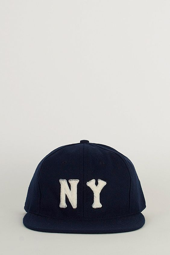 Ebbets Field Flannels Navy/White NY Black Yankees 1936 Cap