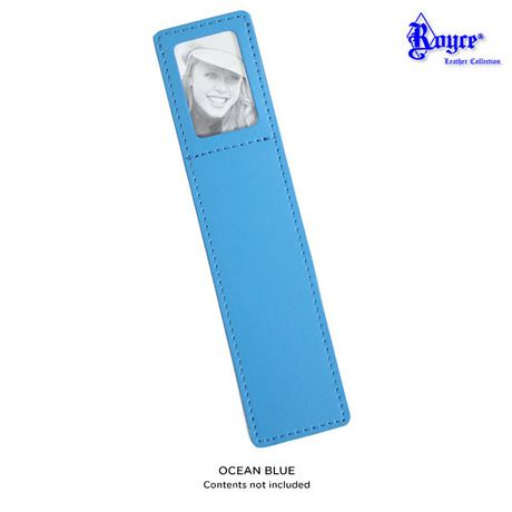 Genuine Leather Photo Bookmark - Black or Ocean Blue at 84% Savings off Retail!