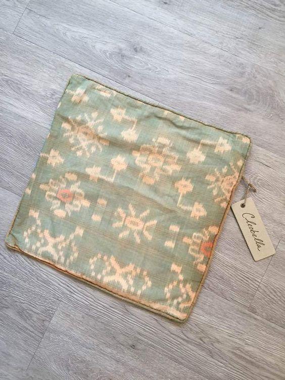 CLEOBELLA NWT Cute Pastel Handmade Designer Small Ikat Pillowcase Cover 16x16 #Handmade