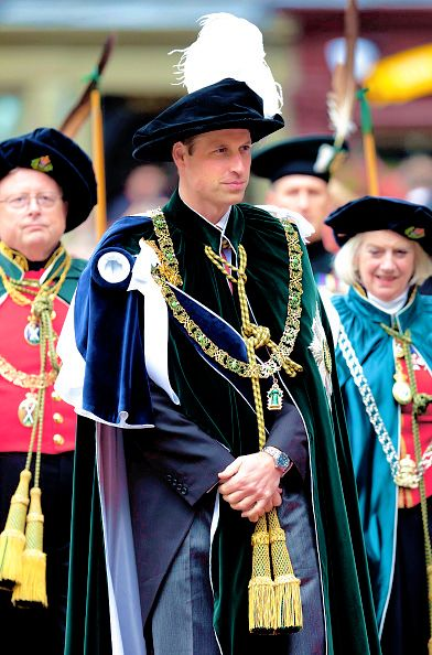 Prince William, Duke of Cambridge attends the Thistle Service at St Giles' Cathedral on July 7, 2016 in Edinburgh, Scotland. The Most Ancient and Most Noble Order of the Thistle is an order of chivalry associated with Scotland.