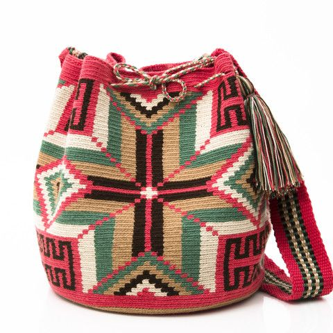 WAYUU TRIBE | AUTHENTIC HANDMADE WAYUU MOCHILA BAGS starting at $108.00 www.wayuutribe.com: