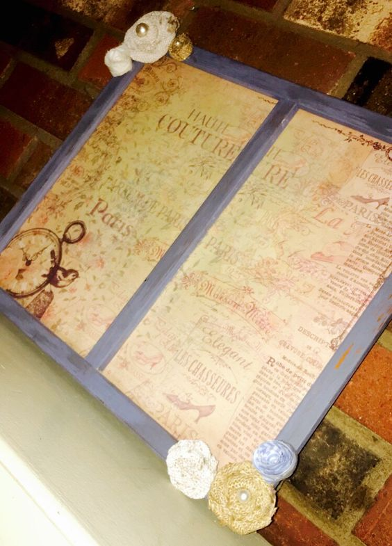 French theme chalk painted picture frame. DIY
