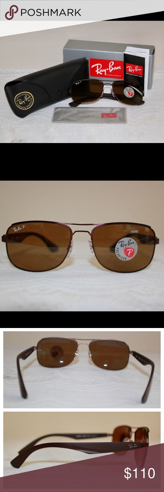 5705a3c44e9 Ray-Ban Men s Brown Polarized Classic style   RB3524 012 83  UPC