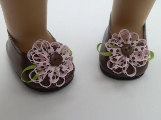 Muñeca americana zapatos cabe 18 niña muñeca por JillRodgersDesigns