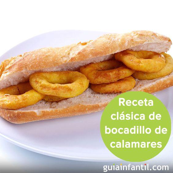 ¡Qué rico y fácil de hacer es el bocadillo de calamares! http://www.guiainfantil.com/recetas/sandwiches-y-bocadillos/bocadillo-de-calamares-receta-tipica-madrilena/