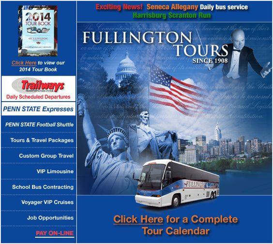 Fullington Tours, Clearfield, Pennsylvania - Tours, Cruises and Travel Packages