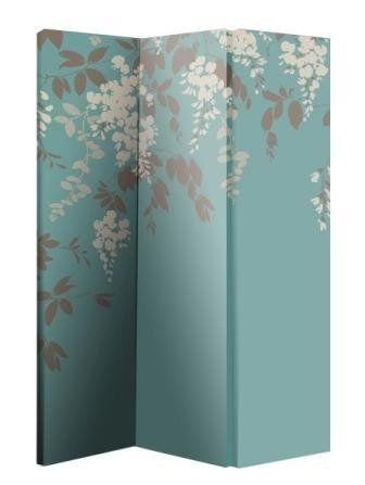 arthouse room divider screen 3 panels 2 fold wisteria 180cm x 120cm x