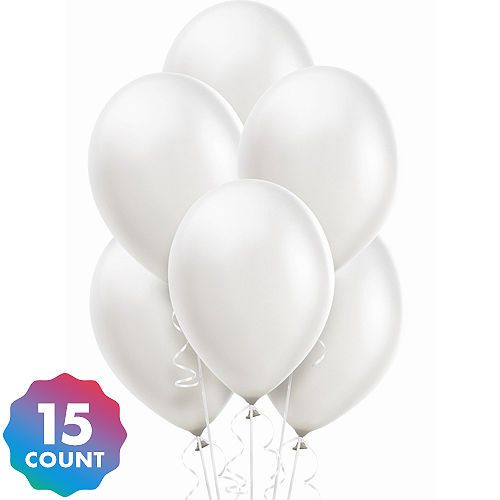 White Pearl Balloons 15ct 12in Pearl Balloons Balloons White