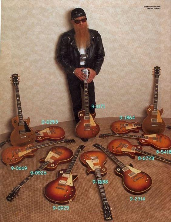 Бил Гибънс от ZZ Top и колекцията му от реколта Гибсън китари: