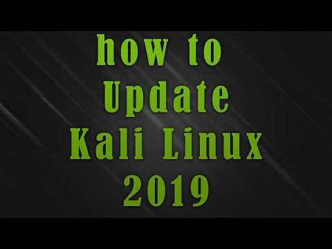 how to update kali linux 2019 - YouTube | Linux, Kali, Update
