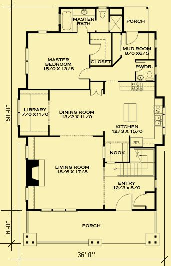 Architectural house plans floor plan details classic for Classic cottage house plans