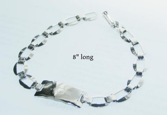 Stainless Steel ID Bracelet Free Shipping