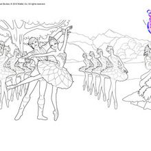 SWAN LAKE ballet Coloring Pages for Young Dancers