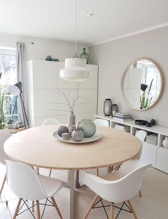 Die Schonsten Ideen Mit Dem Ikea Besta System Kuchentisch Rund Einrichtungsideen Wohnzimmer Esszimmer Wohnzimmer Ideen Gemutlich