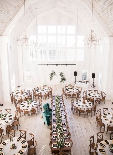 Traditional Wedding In A Big Beautiful White Barn Inspired By This Barn Wedding Venue Traditional Wedding White Barn