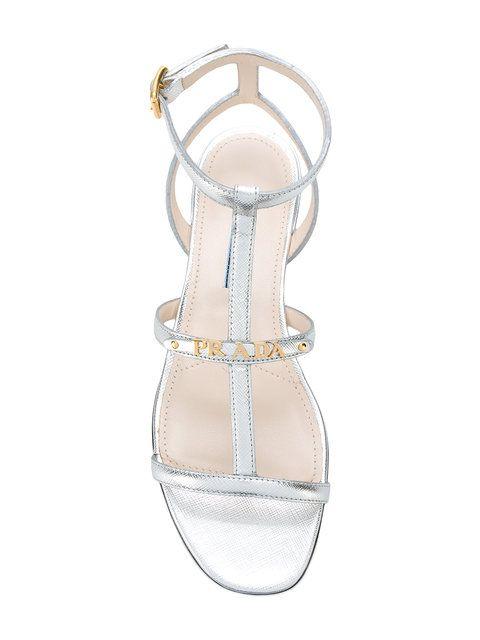 Prada Logo Plaque Sandals - Farfetch