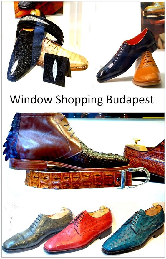 Window shopping shoes in Budapest