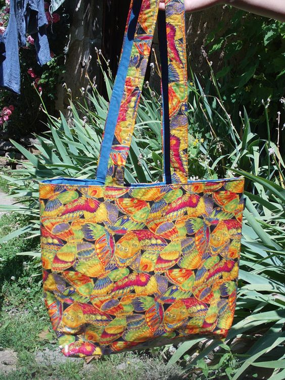 Stunning Butterfly 'Oil Cloth' Tote Bag by NoubaFrance on Etsy, no longer available on etsy, but still available.