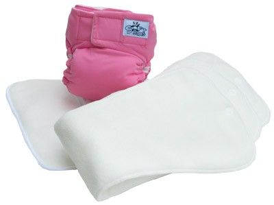 Softbums cloth diapers - all in two design fits baby from birth to potty-training