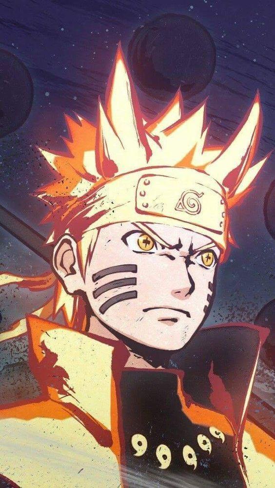 Fanart E Desenho Do Anime Naruto Naruto Com O Chakara Da Kyubi Na