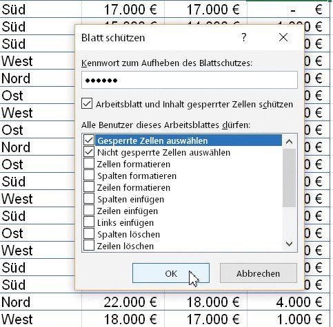 Blattschutz Microsoft Excel Buroorganisation Tipps Microsoft