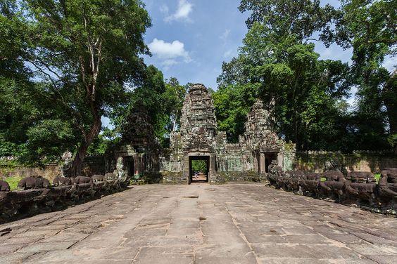 Ngôi đền Preah Khan có diện tích khoảng 57ha