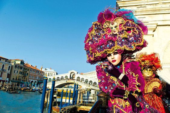 2017 - Carnevale in Venice,  Feb. 11-28; CREATUM, arts and trades are the protagonists of this year's Venice Carnevale, with masks makers, weavers, tailors, and glass makers in their 18th century costumes; theme-based itineraries, special openings, and temporary exhibitions; this year's Carnevale also rediscovers theatre, opera and comedy not only in theatres, but in Piazza San Marco and along the Venetian canals;