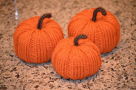 Knitted Pumpkin Pattern : Ravelry: Knit Pumpkin pattern by Katrina McNerney great decorative free patte...