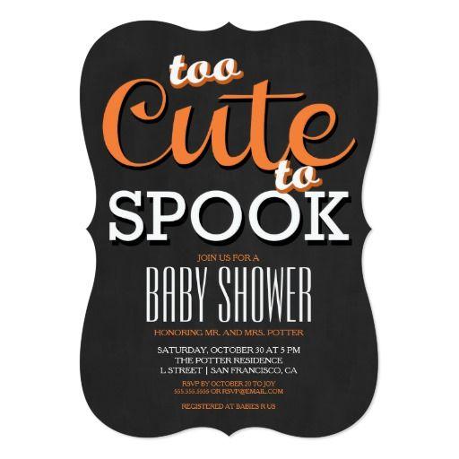 387 best halloween baby shower Invitations images on Pinterest