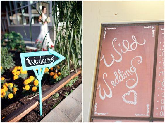 Vintage wedding signs