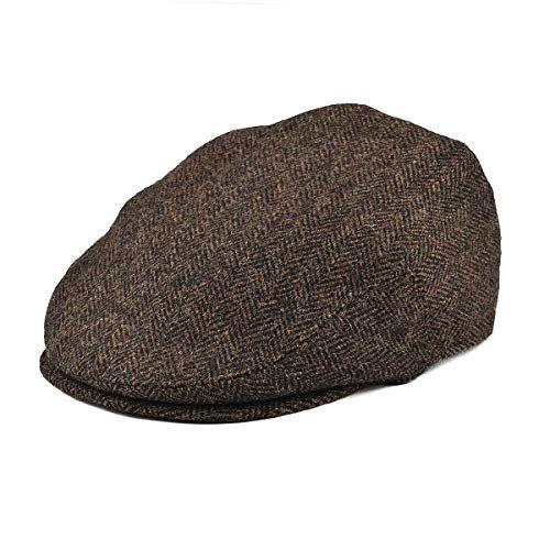 BOTVELA Men/'s 8 Piece Wool Blend Newsboy Flat Cap Herringbone Pattern