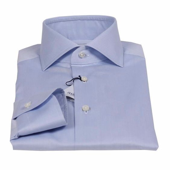 New Barba Napoli Black Label Twill Shirt Size 43 Us 17 Light Blue Slim Fit Fashion Clothing Shoes Accessories Mensclothing Shirts Twill Shirt Shirt Size