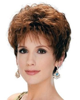 Short Pixie Style with Softly Curly Synthetic Wig