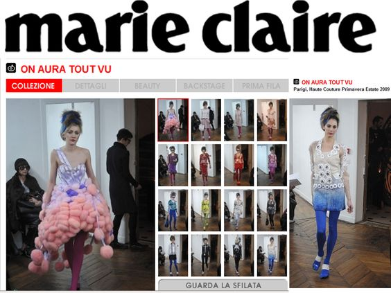 Marie Claire italie 2009 Collection Couture by ON AURA TOUT VU PARIS